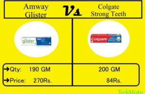 Amway Glister Toothpaste Vs Colgate Toothpaste