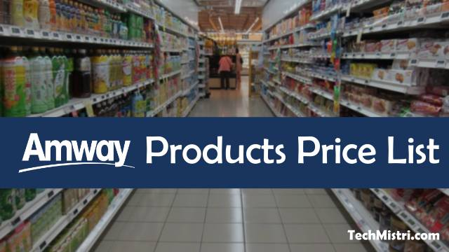 Amway Products Price List