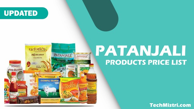 Patanjali Products Price List PDF Download