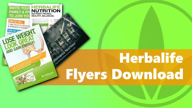 herbalife flyers download