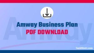 amway business plan pdf download