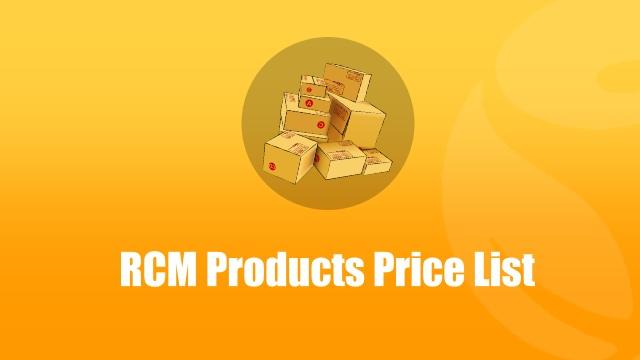 rcm-products-price-list
