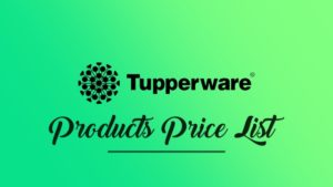 tupperware products price list